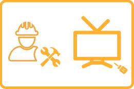 Instalación de soporte para televisión.
